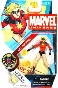 Marvel Universe 3 3/4 Inch Series 3 Action Figure #23 Ms. Marvel [Classic Carol Danvers] Short Hair!