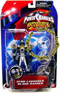 Power Rangers Operation Overdrive Action Figure Gyro Launcher Black Ranger