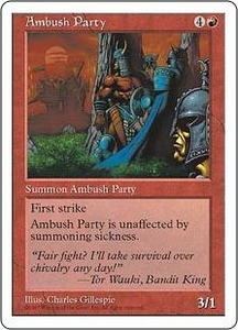 Magic the Gathering Fifth Edition Single Card Common Ambush Party