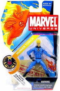 Marvel Universe 3 3/4 Inch Series 2 Action Figure Human Torch [Light Blue Outfit]