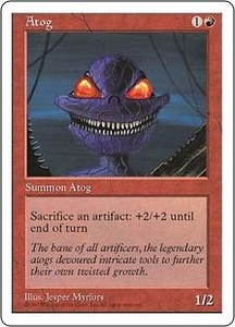 Magic the Gathering Fifth Edition Single Card Uncommon Atog