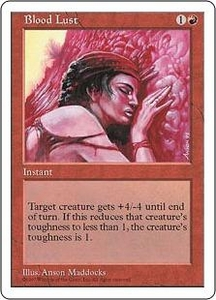 Magic the Gathering Fifth Edition Single Card Common Blood Lust