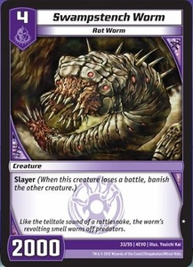 Kaijudo Evo Fury Single Card Common #33 Swampstench Worm