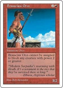 Magic the Gathering Fifth Edition Single Card Common Brassclaw Orcs