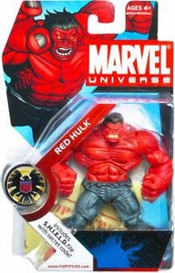 Marvel Universe 3 3/4 Inch Series 4 Action Figure #28 RED Hulk