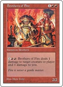 Magic the Gathering Fifth Edition Single Card Common Brothers of Fire