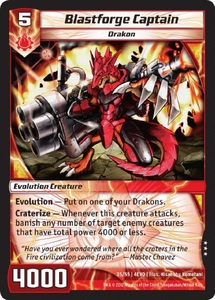 Kaijudo Evo Fury Single Card Rare #35 Blastforge Captain