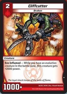 Kaijudo Evo Fury Single Card Common #36 Cliffcutter