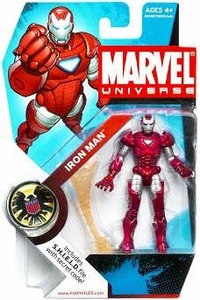 Marvel Universe 3 3/4 Inch Series 5 Action Figure #33 Iron Man [Silver Centurion]