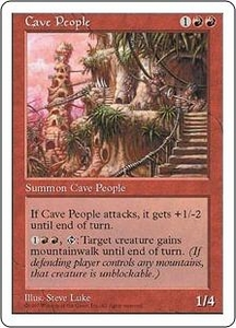 Magic the Gathering Fifth Edition Single Card Uncommon Cave People