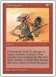 Magic the Gathering Fifth Edition Single Card Common Disintegrate