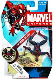 Marvel Universe 3 3/4 Inch Series 5 Action Figure #32 Spider-Man [Upside Down Variant]