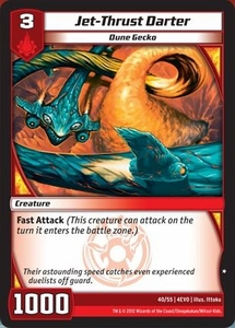 Kaijudo Evo Fury Single Card Common #40 Jet-Thrust Darter
