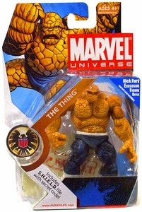 Marvel Universe 3 3/4 Inch Series 3 Action Figure #19 Thing [Dark Pants & White Belt]