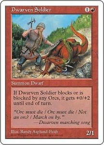 Magic the Gathering Fifth Edition Single Card Common Dwarven Soldier
