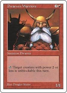 Magic the Gathering Fifth Edition Single Card Common Dwarven Warriors