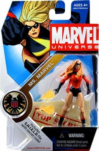 Marvel Universe 3 3/4 Inch Series 3 Action Figure #22 Ms. Marvel [Dark Avengers Karla Sofen] Long Hair