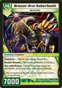 Kaijudo Evo Fury Single Card Uncommon #45 Bronze-Arm Sabertooth
