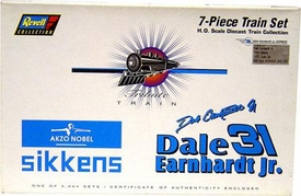 Nascar Racing Collectible Dale Earnhardt Jr. 7-Piece H.O Scale Die Cast Train set