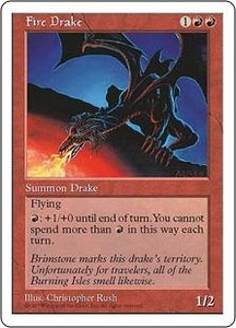 Magic the Gathering Fifth Edition Single Card Uncommon Fire Drake