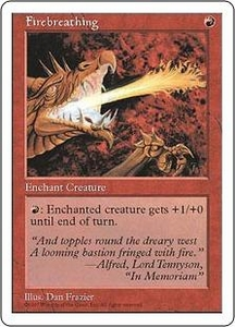 Magic the Gathering Fifth Edition Single Card Common Firebreathing