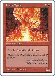 Magic the Gathering Fifth Edition Single Card Uncommon Flame Spirit