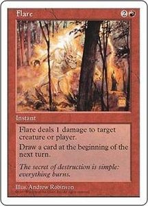 Magic the Gathering Fifth Edition Single Card Common Flare