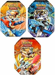 Pokemon Black & White Set of 3 Spring 2013 Legendary Tins [White Kyurem, Keldeo & Black Kyurem]