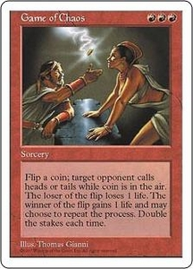 Magic the Gathering Fifth Edition Single Card Rare Game of Chaos