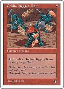 Magic the Gathering Fifth Edition Single Card Common Goblin Digging Team