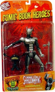 Shocker Toys Comic Book Heroes Indie Spotlight Series 1 Action Figure Silver Armor Shadowhawk & Black Isz