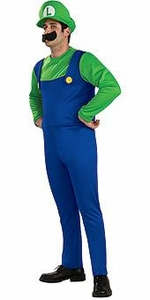 Super Mario Rubies Costume #889229 Luigi [Adult]