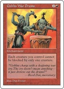 Magic the Gathering Fifth Edition Single Card Common Goblin War Drums