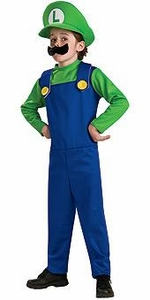Super Mario Rubies Costume #883654 Luigi [Child]