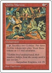 Magic the Gathering Fifth Edition Single Card Rare Goblin Warrens