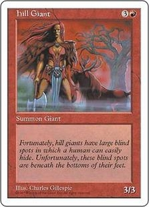 Magic the Gathering Fifth Edition Single Card Common Hill Giant