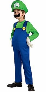 Super Mario Rubies Deluxe Costume #883656 Luigi [Child]