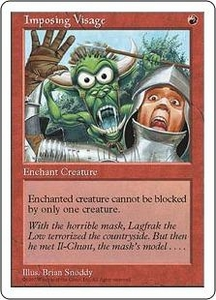 Magic the Gathering Fifth Edition Single Card Common Imposing Visage