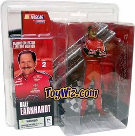 McFarlane Toys NASCAR Series 2 Limited Edition Action Figure Dale Earnhardt NO Sunglasses Variant