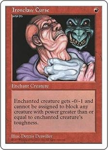 Magic the Gathering Fifth Edition Single Card Rare Ironclaw Curse
