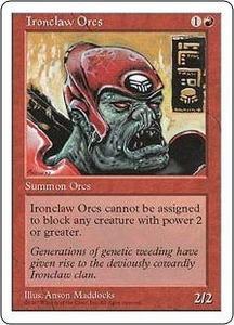 Magic the Gathering Fifth Edition Single Card Common Ironclaw Orcs