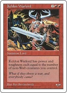 Magic the Gathering Fifth Edition Single Card Uncommon Keldon Warlord