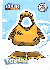Disney Club Penguin Online Code Sticker Redemption Sticker Card Gold Fish[Gets You 4 Virtual Trading Cards!]