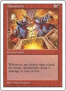 Magic the Gathering Fifth Edition Single Card Rare Manabarbs