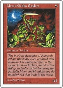 Magic the Gathering Fifth Edition Single Card Common Mons's Goblin Raiders
