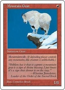 Magic the Gathering Fifth Edition Single Card Common Mountain Goat