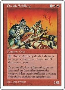 Magic the Gathering Fifth Edition Single Card Uncommon Orcish Artillery