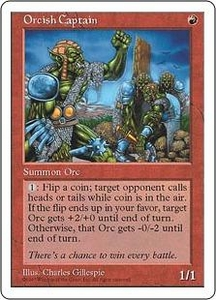 Magic the Gathering Fifth Edition Single Card Uncommon Orcish Captain