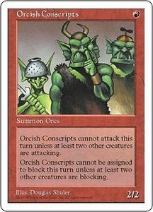 Magic the Gathering Fifth Edition Single Card Common Orcish Conscripts