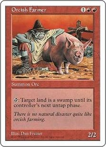 Magic the Gathering Fifth Edition Single Card Common Orcish Farmer